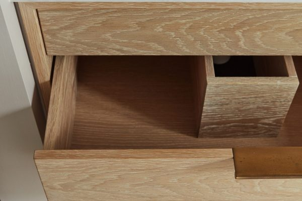 Close up of wooden drawers