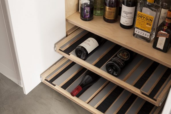 Bespoke-fitted wine rack