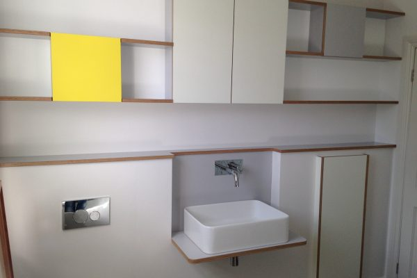 Bathroom shelves and cabinets